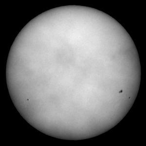 「太陽(白色光)」の撮影 2020年12月3日(機材:ミニボーグ50FL、E-PL5、ポラリエ)