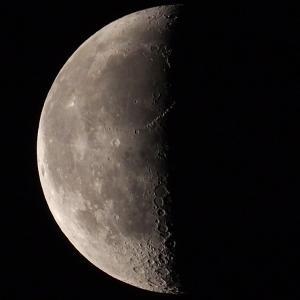 「月」の撮影 2021年6月3日(機材:ミニボーグ50FL、E-PL5、ポラリエ)