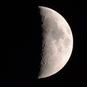 「月」【月面エックス】の撮影 2021年6月17日(機材:ミニボーグ50FL、E-PL5、ポラリエ)