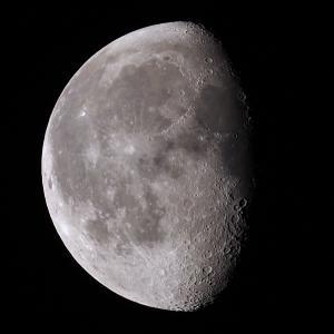「月」の撮影 2021年8月28日(機材:ミニボーグ50FL、E-PL5、ポラリエ)