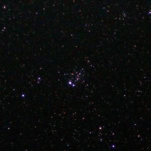 「散開星団NGC457」の撮影 2021年7月18日(機材:コ・ボーグ36ED、スリムフラットナー1.1×DG、E-PL5、ポラリエ)