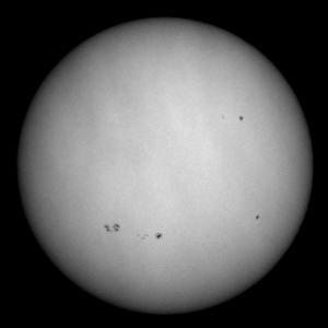 「太陽(白色光)」の撮影 2021年9月8日(機材:ミニボーグ50FL、E-PL5、ポラリエ)