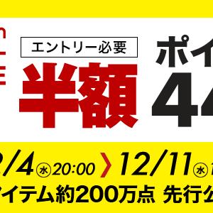 ついに明日!12月4日、今年最後の楽天スーパーセールが始まるよ!