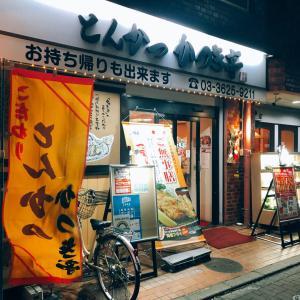 スカイツリー近くにある浅草通沿いにあるとんかつ屋「かつき亭」さんで浅草とんてき定食