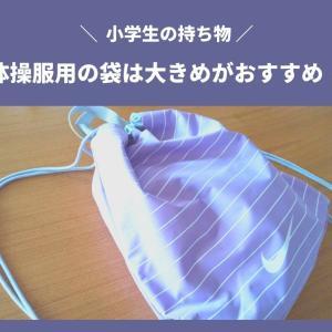 小学生にオススメ☆「プールバッグ」としても使える「大きめ体操服袋」を紹介します。