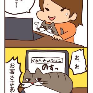 【猫漫画】お客様…!