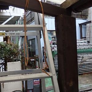 自転車小屋の柱交換3日目 柱の接合