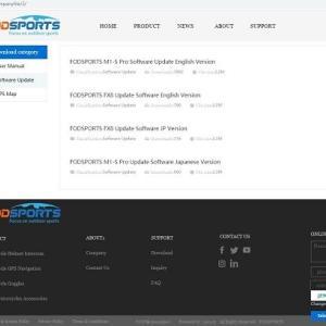 FODSPORTS M1-S PROのファームウェアバージョンアップ