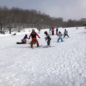 家族でスキー! 初めて全員で一緒に滑った!