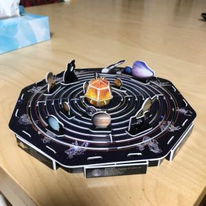 【いち英語】太陽系模型3Dパズル