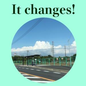 【いち英語】雲が変わっていく