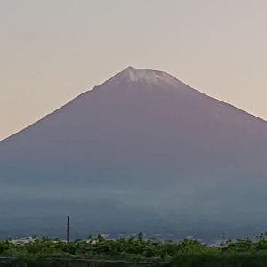 9月の雪化粧、富士山早いよ・・・
