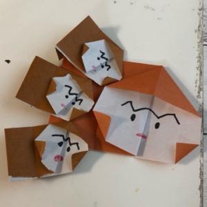簡単に折り紙でお猿を作る☆彡