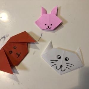 折り紙で【犬・猫・ウサギ】の顔を作る☆彡
