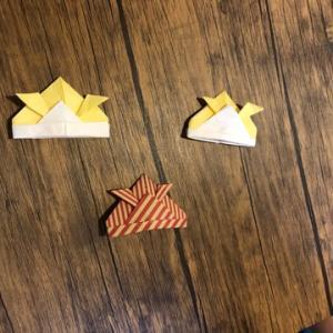 保育園の次女が作ってみた!!!折り紙でカブトを作る☆彡