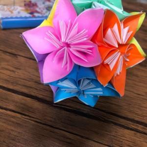 ユニット折り紙…花くす玉♡