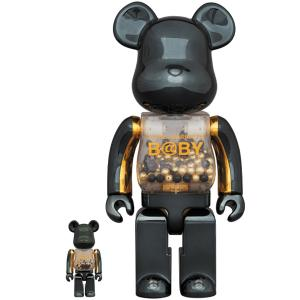 【2020/2/1(土)発売】MY FIRST BE@RBRICK B@BY innersect BLACK & GOLD Ver.100% & 400% / 1000%