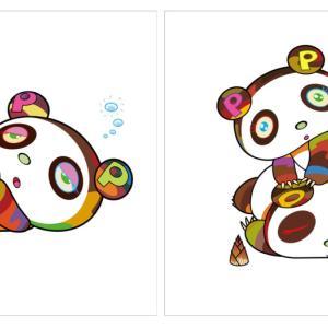 【2020/8/5(水)発売】村上隆 新作版画 「パンダちゃん、眠い眠い。」「パンダちゃん。ホヨヨ、スヤスヤ。」