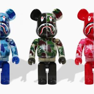【2020/9/26(土)発売】BE@RBRICK CLEAR ABC CAMO SHARK 100%&400% / 1000%