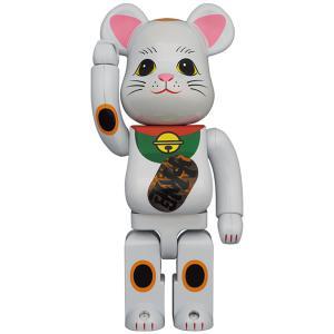 【2021/7/24(土)発売】BE@RBRICK 招き猫 白メッキ 発光 400%