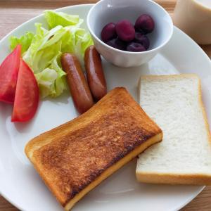 業務スーパーの食パン/かぼちゃのグラタン