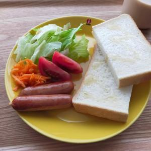 はちみつと食パン/かぼちゃグラタンと食パン