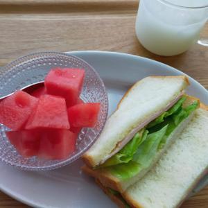 ハムとレタスのサンドイッチ/鶏じゃが/唾液抗原検査