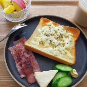 ハチミツチーズトースト/納豆チャーハン