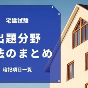 宅建試験で出題される税法【暗記項目のまとめ】