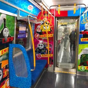 都営大江戸線にあるトーマス車両は「子育て応援スペース」という位置づけ
