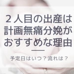 【体験談】二人目の出産は計画無痛分娩が絶対おすすめ!予定日はいつ?流れは?