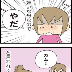 ★命令されるとなぜか腹がたつ・・  4コマ漫画「親子」
