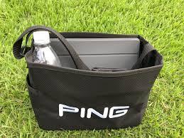 大人気の「PING」、クラブはなかなか買えないけど、目土袋のPINGのロゴがカッコいい