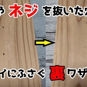 【裏ワザ】釘やネジを抜いた穴を簡単にキレイにふさぐ方法!