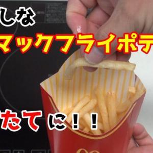 【裏ワザ】マクドナルドのポテトがしなしなになったときに簡単に揚げたてのような食感に戻す方法!