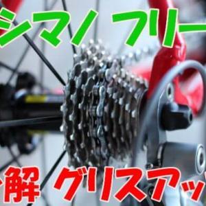 【リヤハブメンテナンス】シマノフリーを分解 グリスアップ