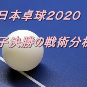 【全日本卓球2020男子決勝】張本選手対宇田選手の戦術をサーブの配給から分析
