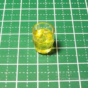 【ミニチュアフード】氷入りグラスの作り方