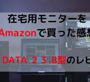 在宅用モニターをAmazonで買った感想。I-O DATA 23.8型のレビュー