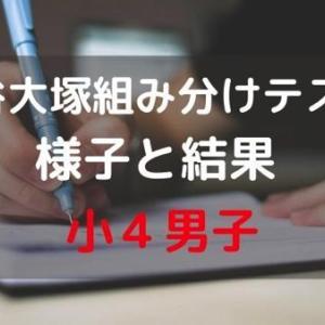 四谷大塚の組み分けテストを受けてきた様子と結果のブログ【小4】