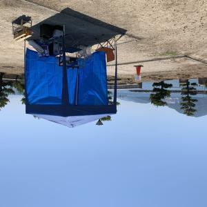 下蒲刈 梶ヶ浜キャンプでソロキャンプ