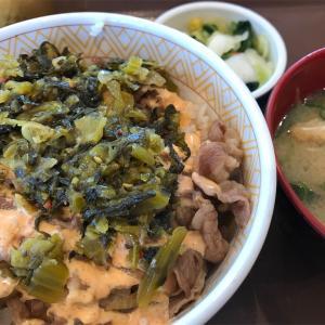 すき家「高菜明太マヨ牛丼」豊見城名嘉地店