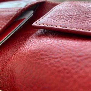 ミニマリストが買った、小さな革の赤い財布をご紹介「木の庄帆布」