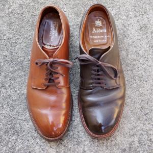 【革靴】Aldenの定番ラストモディファイドラストとミリタリーラストを比較する。