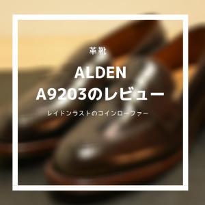 【革靴紹介】Alden A9203 Review:BROGUE別注レイドンラストのコインローファー。