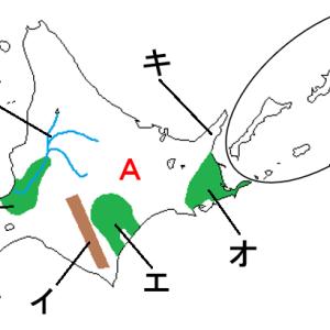 地理5-7:北海道地方の地図