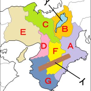 中学地理:近畿地方の地図(ざっくり)