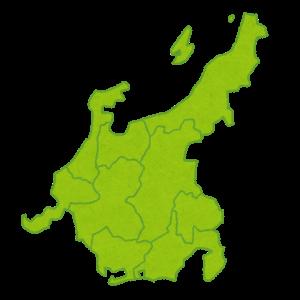中学地理:中部地方の地図(しっかり)