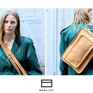 Bagllet ミニマルデザインのレザー バッグ:ウクライナ発のハンドメイド