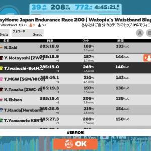 206km Race 🥉! 日本人率9割超!